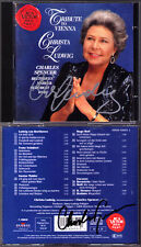 Christa LUDWIG, Charles SPENCER Signed TRIBUTE TO VIENNA Schubert Mahler Wolf CD