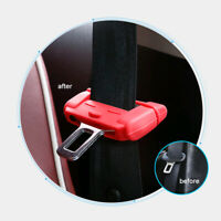 Car Seat Belt Buckle Clip Silicone Anti-Scratch Cover Red Safety Accessories New