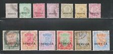 INDIA 1912-13, KGV. 3P to 25Rs. SG073-096 (13V) USED COMPLETE SET.