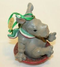 "Danbury Mint Baby Animal Christmas Ornament Series ""Rhino'"
