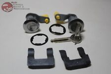 81-93 Mustang Ford Door Lock Cylinder Key Set Chrome Cap Bent Pawl New