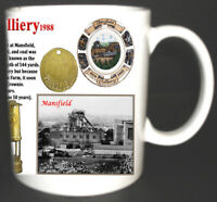 MANSFIELD COLLIERY COAL MINE MUG LIMITED EDITION GIFT MINER NOTTINGHAMSHIRE PIT