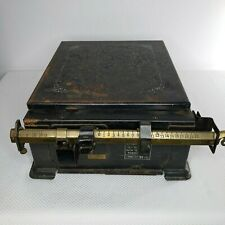 Vintage Cast Iron Triner All Steel Parcel Post Postage Scale 100 Lb Capacity