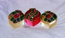 Ornament Christmas gift boxes-set of 3-sequin