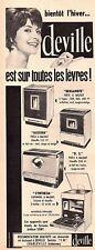 ▬► Publicité French Print advertising - Poêle cuisinière - DEVILLE - 1961