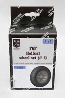 Halberd Models F6F HELLCAT wheels set #4 for Airfix 1/24 kits
