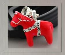 3D RED HORSE CLIP CHARM