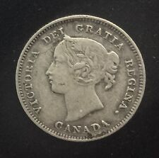 Canada  1898 Semi Key Date  5 Cents  Silver Queen Victoria