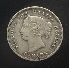 Canada  1898 Semi Key Date  5 Cents  Silver Queen Victoria