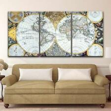"Wall26 - 3 Panel Vintage World Map Gallery - CVS - 24""x36"" x 3 Panels"