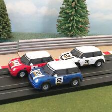 Micro Scalextric 1:64 Cars-Mini Rally-Rojo # 1, Blue # 2, Blanco # 3