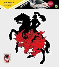 620164 ST GEORGE ILLAWARRA DRAGONS MONSTER DECAL SECONDARY NRL CAR STICKERS ITAG