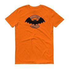 Hallows Angels vampire bat  Halloween biker short-sleeve t-shirt
