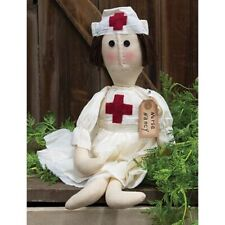 "New listing New Primitive Country Folk Art Nurse Nancy Doll Figure 16"""