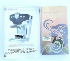 Instruction Manual and VHS Video for Starbucks Sirena Espresso Machine SIN 025RX