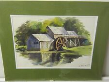 Original Watercolour of a Mid- west Mill U.S.A. by Nicolette Atwood (Freston)