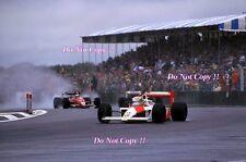 Ayrton Senna McLaren MP4/4 Winner British Grand Prix 1988 Photograph 7