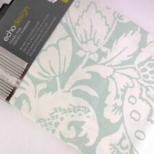 "Echo Design Drapes Floral Curtains Window Panels Set green 84"" Indigo Summer"