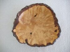 "DENALI ALASKA 8"" YELLOW BIRCH BURL WOOD BOWL - Signed by Artist Al Janonis"