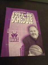1998-99 Milwaukee Bucks Basketball Pocket Schedule WTMJ Version