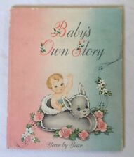 NOS Vintage 1947 Baby's Own Story Scrapbook Book 1st 5 Years New Old Stock Blank