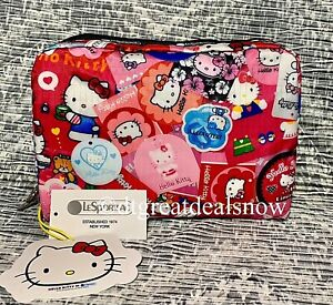 LeSportsac XL Rectangular Hello Kitty Collector Cosmetic Bag 7121 G631 Pink