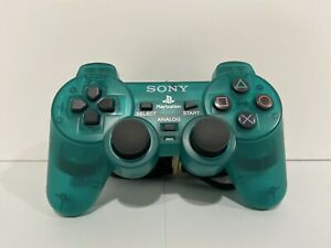 """Sony PS2 Playstation 2 Emerald Green Controller Dualshock SCPH-10010 """"Mint"""""""