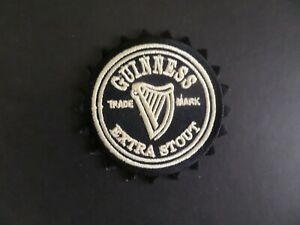 """GUINNESS BEER"""" EXTRA STOUT Embroidered 3 x 3 Iron On Patch"""