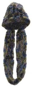 Northstar Womens Pink/Blue/Yellow Chinchilla Real Fur Hat w/Infinity Scarf H-20