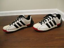 Used Worn Size 13 Adidas Man Master G Shoes White Black Red
