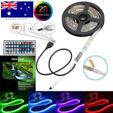 LED RGB 4 PCS 40cm+20cm USB Strip Light TV Back Lamp Color Changing IR Remote AU