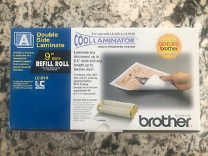 """2 X Brother Cool Laminator  LC-D9R 9"""" Refill Roll Double Side"""