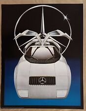 MERCEDES PROTOTYPE DESIGNED BY TERRY PASTOR, RARE AUTHENTIC 1980's ART POSTER