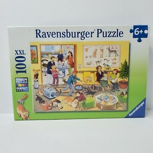 Ravensburger 100 Piece XXL Jigsaw Puzzle -  In the Vet's Office - New/Sealed