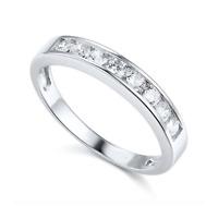 1Ct Round Real 14k White Gold Engagement Wedding Anniversary Band Ring