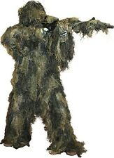 Ghillie Suit Woodland Camo Hunting Paintball 5 Piece Fire Retardant M/L Military