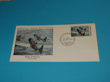 WWII FDC W43-4 Midway Japan Kate Type 97 Torpedo * 50th Anniversary