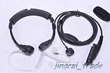 Heavy Duty Throat Vibration Mic Earphone for Motorola GP328 GP340 GP380 radio