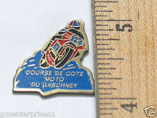 Vintage French Course de cote moto du gaschney Motorcycle Racing Pin (#412)