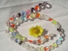 "8mm Art Glass Glow In The Dark Heart Beads 15""strand"