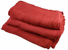 100 PCS MULTI-USE FIRST GRADE RED COTTON SHOP TOWEL BRAND NEW 155 LBS QUALITY