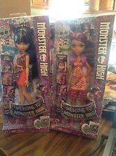 2 Brand New Monster High: CLAWDEEN WOLF + CLEO DE NILE Dolls!