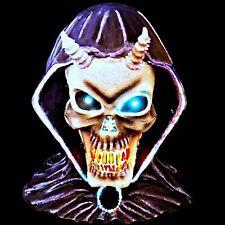 Rare Fiber Optic Lights Changing Colors Demon Skull 3D Halloween Decor Spencers