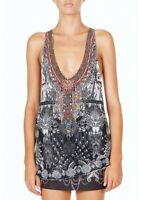 Camilla Franks Vintage Unguarded Virtue Double Layer Racer Back Tank- Size 2
