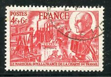 STAMP / TIMBRE FRANCE OBLITERE N° 608 CHARTE DU TRAVAIL