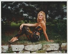 Vintage 80s PHOTO Young Blond Woman Girl Modeling In Nature