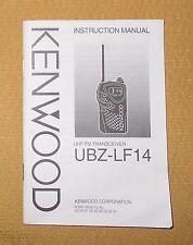 + Kenwood UBZ-LF14 UHF FM Transceiver Instruction Manual Free Shipping