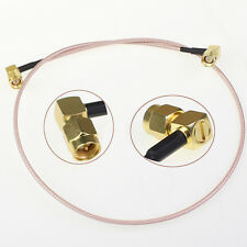 SMA male right angle to SMA plug pigtail cable Connector Adapter RG316 50CM