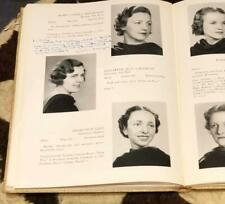 1937 Yearbook University of Rochester College for Women Croceus w/Alice Drawings