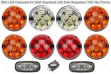 RDX Td5 Tdci LED Coloured 8 Lamp/lights Kit + Side Repeaters Land Rover Defender